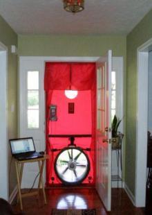 Red Blower Door Testing