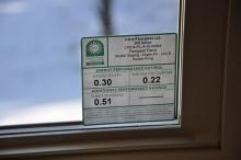 Window label showing how renewable and efficient a home is